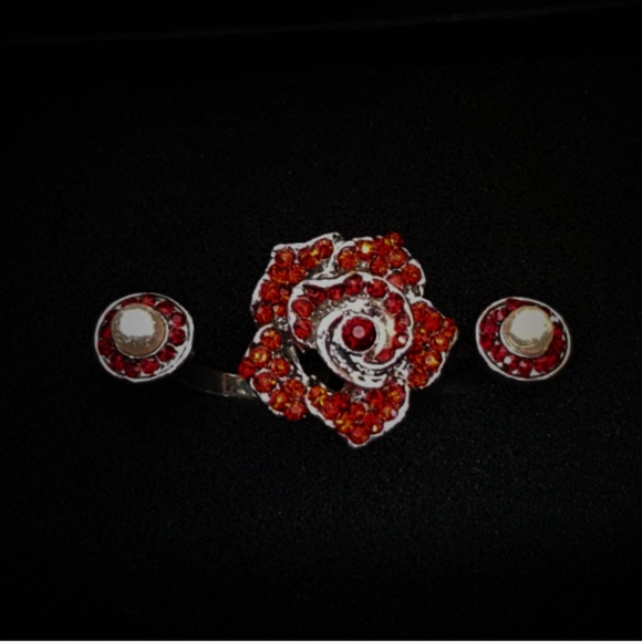 Jewelry - Red Rose Double Ring